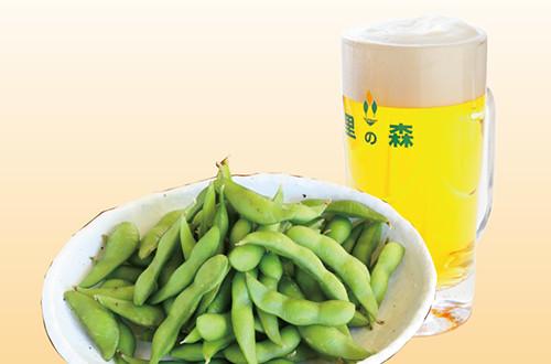 てんこ盛り枝豆とビールセット