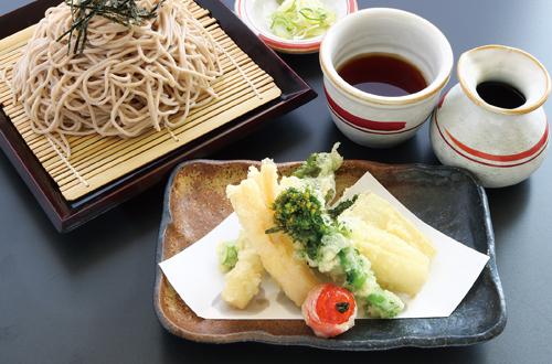 3月限定姫竹と菜の花の天ぷらそば