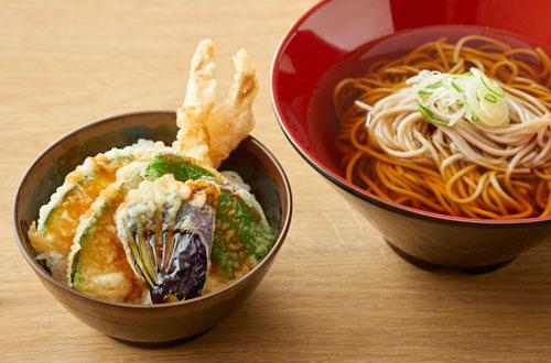 そばとミニ天丼セット(冷/温)
