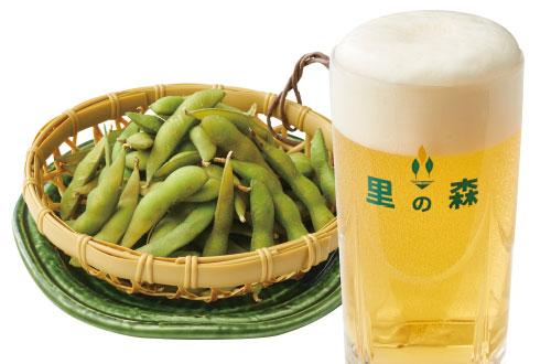てんこ盛り枝豆と黒ラベル生セット