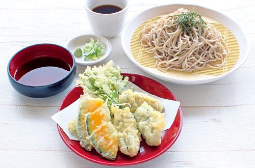 12月の限定メニュー牡蠣の天ぷらそば